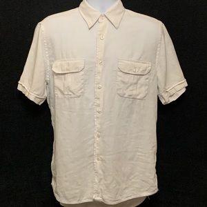 Express Men's Linen Button Front Shirt Medium